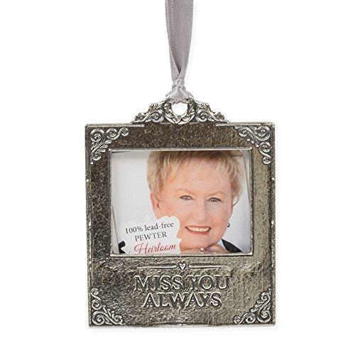 Celebration Of Life Boxed Poem Bereavement Memorial Pewter Photo Ornament