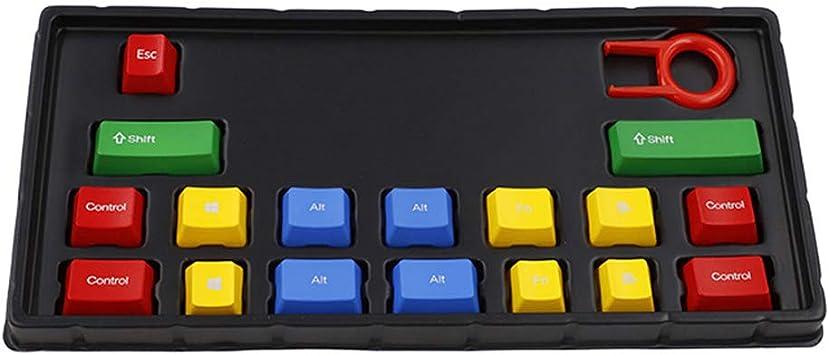 Yoging - Teclas de retroiluminación ABS RGB de 17 teclas para ...