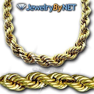 ab21f6d30b152 14K Solid Gold Huge 40 Inch Dookie Rope Chain 14K Gold Solid HUGE 1 ...