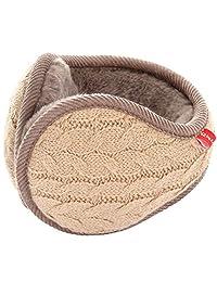 LerBen Winter Earmuff Woolen Yarn Cable Knit Wrap around Ear Muffs Ear Warmers