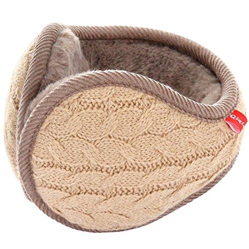 LerBen Winter Earmuff Woolen Yarn Cable Knit Wrap around Ear Muffs Ear Warmers by Lerben (Image #1)