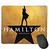 Hamilton Mouse Pads Pack with Non-Slip Rubber Base,Waterproof Mousepads Bulk with Stitched Edges