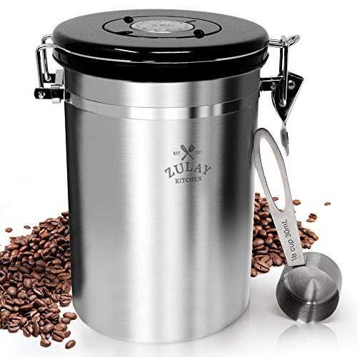 Coffee Boss Coffee Canister, Large Stainless Steel