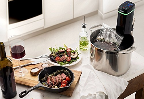 Souvia Sous Vide Immersion Circulator w/Accurate Temperature, Programmable Digital Touch Screen Display, Ergonomic Grip to Fit Any Pot Ultra-quiet,1100 Watts, Black by Magic Mill (Image #4)'