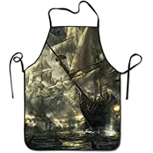 Pirate Troops Adjustable Apron For Grilling Bacon Lady's Men's Great Gift For Wife Ladies Men Boyfriend