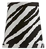 Upgradelights Four Inch Clip On Zebra Print Drum Chandelier Mini Lamp Shade