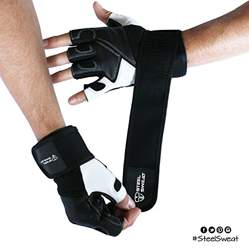 Weight Lifting Gloves Xxl: Steel Sweat Weightlifting Gloves With 18-inch Wrist Wrap