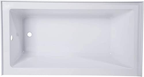 Kingston Brass VTAP543022L Aqua Eden 54-Inch Acrylic Alcove Tub