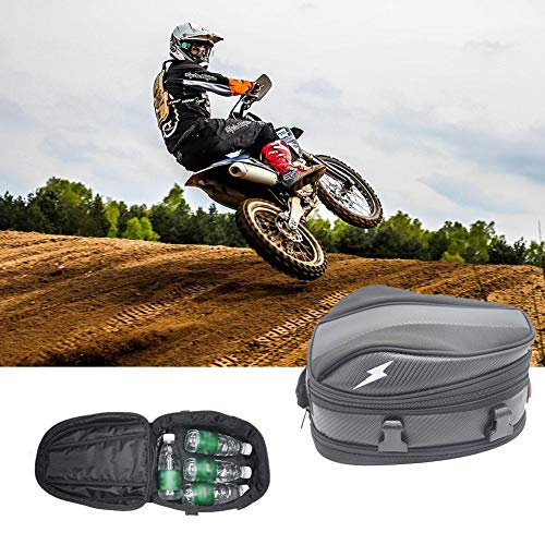 foreverwen Tail Bag for Motorcycle Sport Touring Waterproof Multifunctional Oxford Cloth Tear-Resistant Universal Fit Stuffsack Pocket