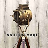Antique Victorian Style Tripod Floor Nautical Living Room Lamp Corner Brass Lamp, Dinning Room light, Spotlight, By Nauticalmart