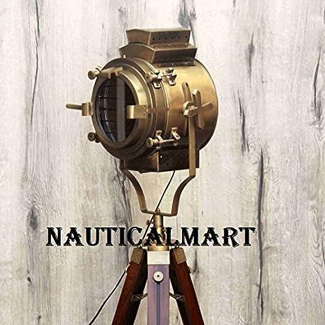 Antique Victorian Style Tripod Floor Nautical Living Room Lamp Corner Brass Dinning Light Spotlight By Nauticalmart