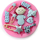 Yunko Baking Molds 3d BOY Baby Toy Baby Shower Theme Silicone Mold Fondant Molds Sugar Craft Tools Chocolate Mould for Cakes,fondant and Cake Mold