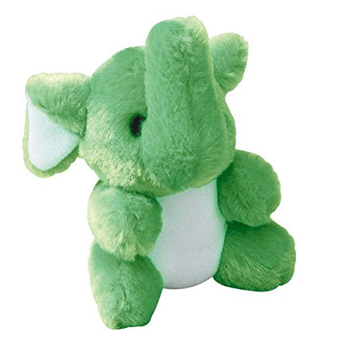 "Kutie Pies Plush Dog Toys Colorful Adorable Soft Squeaker For Puppies 4 3/4"" (Elephant)"