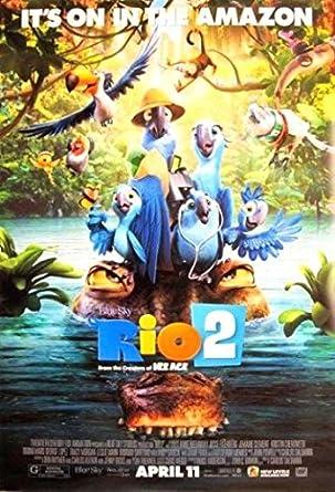 Rio 2 27x40 Original Movie Poster One Sheet 2014 Birds Jungle At Amazon S Entertainment Collectibles Store