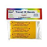 Kenson Kids Travel ID Bands - Disposable ID Bracelets
