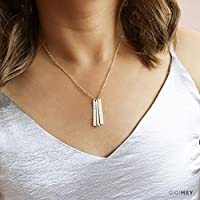 Vertical Bar Necklace 35x4