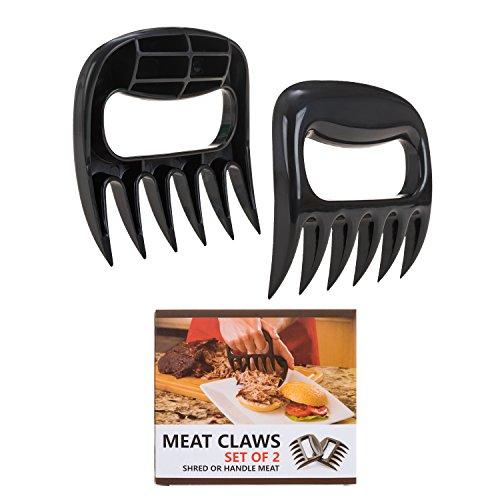 Pulled Pork Shredder Claws - STRONGEST BBQ MEAT FORKS - Shredding Handling & Carving Food - Claw Handler Set for Pulling Brisket from Grill Smoker or Slow Cooker - BPA (Meat Fork Set)