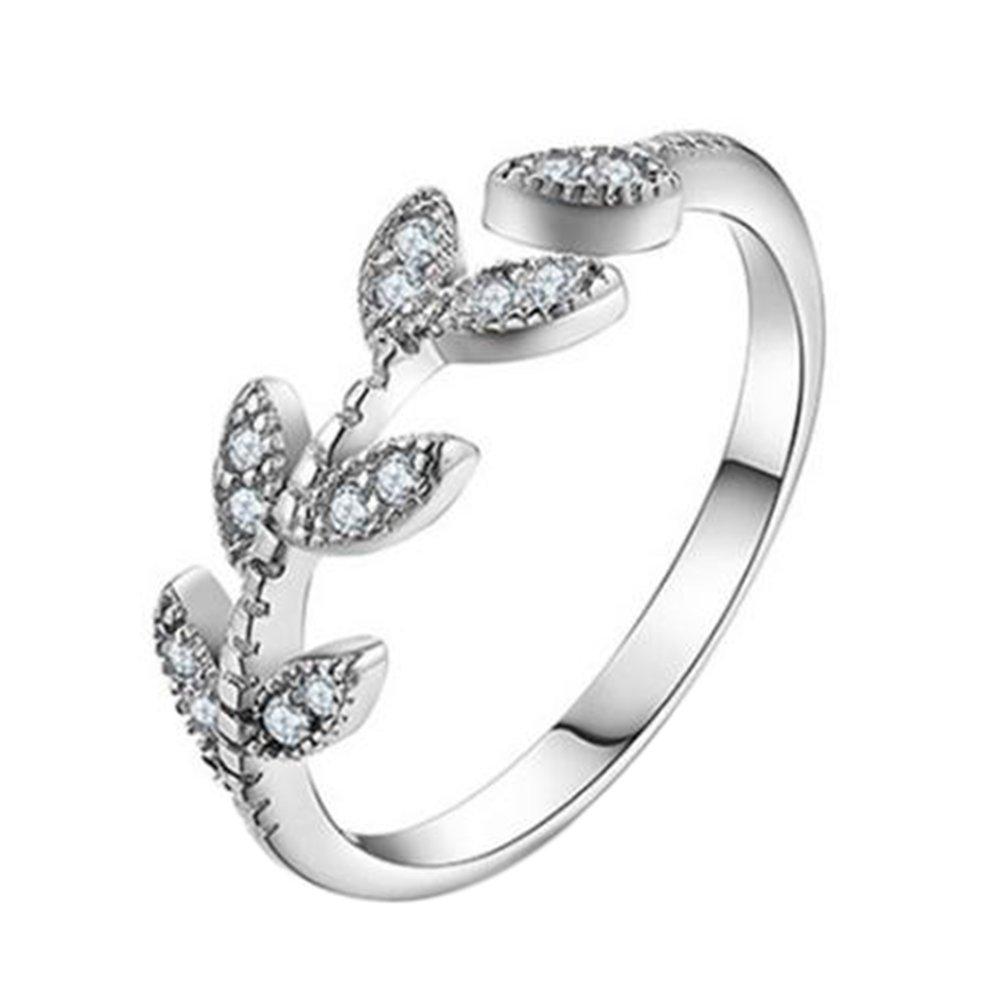 Cosanter, anello da donna in argento con apertura, regolabile, per feste di Natale, regalo