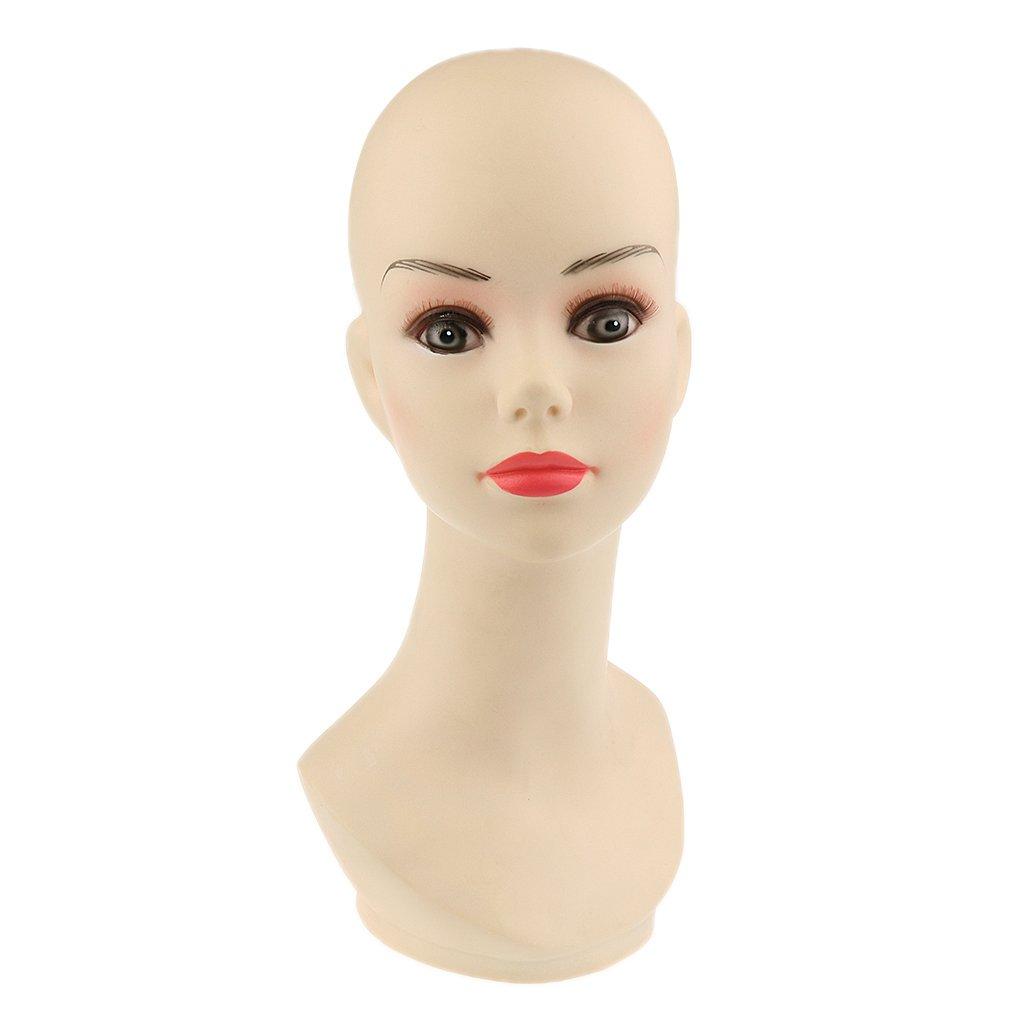 MagiDeal Mehrzweck Perückenkopf Dekokopf Schaufensterkopf - 10 Arten Auswählbar, unterschiedlicher Farben und Stil - Schwarz #4 53cm*45cm