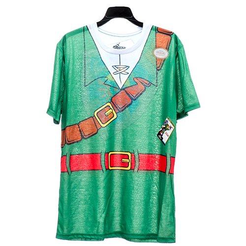 Zelda Costume Ocarina Of Time (Nintendo Legend of Zelda Link Costume T Shirt Front Back Design Ocarina of Time (Large) For Adults)