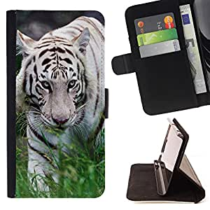 Super Marley Shop - Leather Foilo Wallet Cover Case with Magnetic Closure FOR LG G3 LG-F400 D802 D855 D857 D858 - Whit Tiger