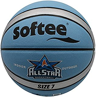 Softee 80654.b04 Ballon de Basketball, Blanc, S