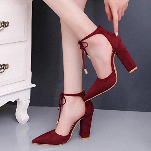 Sandalias de mujer, Internet Mujeres Verano Sandalias De Tacón Alto Rojo