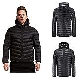 Men Padded Coat,Vanvler Male Winter Warm Jacket Hooded Outwear Youth Boy Pullover Tops Pocket Zipper