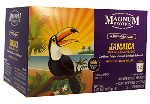 Magnum Taste of the Exotic Jamaican Blue Mountain Blend Coffee, Single Serve, 12 Count