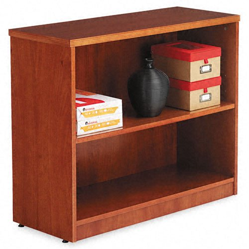 Alera Verona Veneer Series Bookcase, 2 Shelves, 36 W by 14 D by 30 H, Cherry