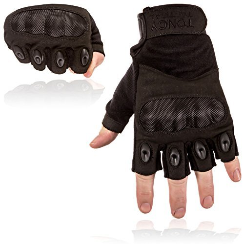 Swat Assault - Tactical Shooting Gloves Fingerless/Half Finger Tactical Gloves with Hard Knuckle for Riding Motorcycle Airsoft Military Army Police Swat Combat Assault Tactical Gear 1 Pair By Toncy Tactical
