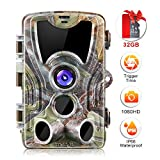 Crenova 20MP Hunting Trail Camera 32GB Micro Card Included Max up to 64GB Updated to 940nm IR LEDs and IP 66 Waterproof Game Camera 1080 P Motion Activated Night Vision Wildlife Cameras