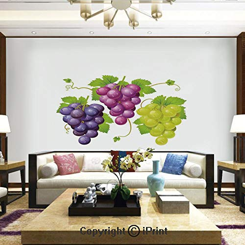 - Mural Wall Art Photo Decor Wall Mural for Living Room or Bedroom,Three Cluster of Ivy Burgundy Region Blending Fresh Picture Artwork,Home Decor - 100x144 inches