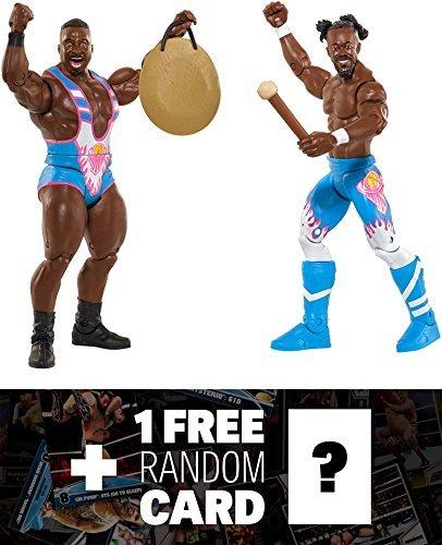 Kofi Kingston & Big E: WWE x Battle Pack Action Figure + 1 FREE Official WWE Trading Card Bundle (39549)