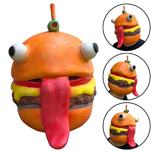 XEDUO Halloween Cosplay Durr Burger Mask Melting Face Latex Adults Costume Halloween Scary Mask Toy (Orange) for $<!--$9.99-->