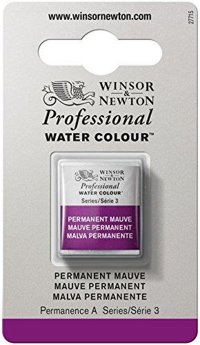 Winsor & Newton Professional Water Colour Paint, Half Pan, Permanent Mauve