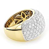 Luxurman Ladies Pave Set Diamond Rings 14K Gold Round Natural Diamond Band (4 Ctw,G-H Color)