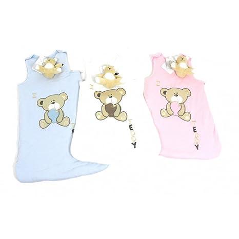 Bebe listado Baby niños niñas saco de dormir Strampelsack con forma de oso colour rosa y
