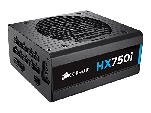 Corsair HXi Series, HX750i, 750 Watt (750W), Fully Modular Power Supply, 80+ Platinum Certified