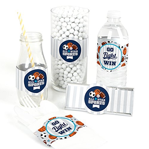 Go, Fight, Win - Sports - DIY Party Supplies - Baby Shower or Birthday Party DIY Wrapper Favors & Decorations - Set of 15]()