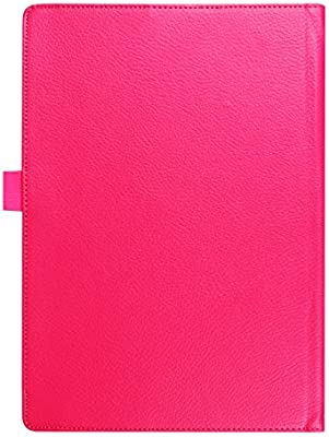 Qiaogle Tableta Case - Funda de PU Cuero Clamshell Carcasa Cover para Lenovo Yoga Book 2-in-1 Tablet (10.1 Pulgadas) - KP08 / Rose Estilo