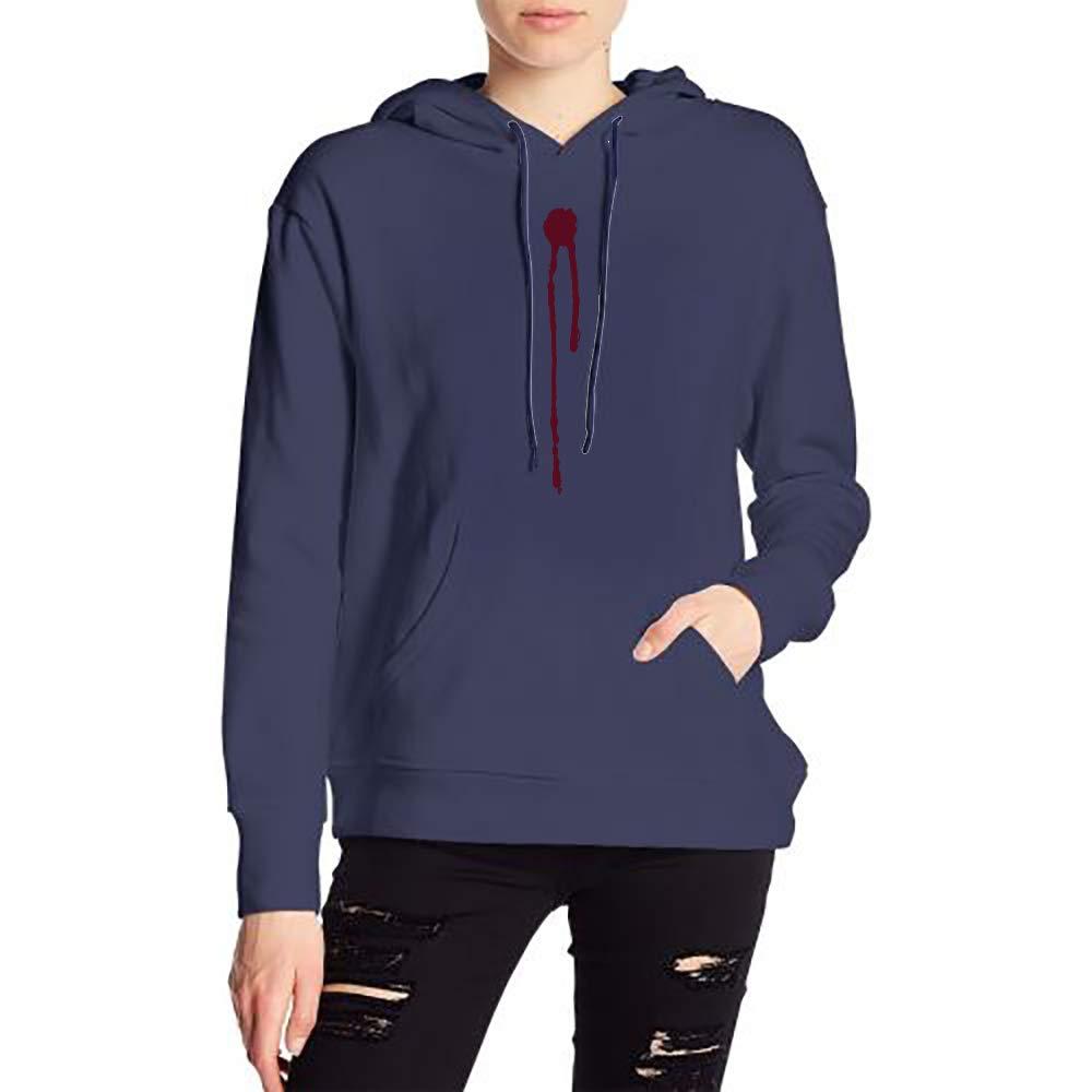 JiJingHeWang Woman Drip Long Sleeve Casual Style Drawstring Hooded