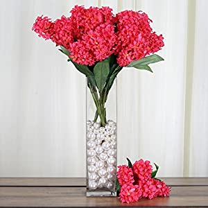 Tableclothsfactory 25 pcs Artificial Hyacinth Flowers - Fuchsia 74