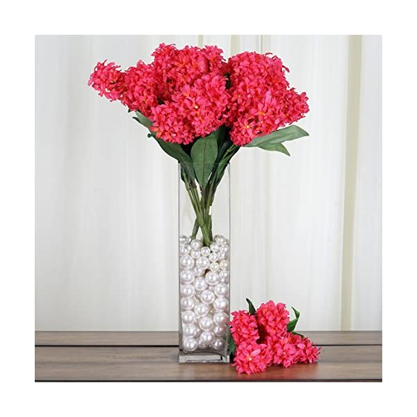 Tableclothsfactory 25 pcs Artificial Hyacinth Flowers – Fuchsia
