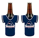 New England Patriots Super Bowl XLIX 49 Champions NFL 2014 - 2015 Bottle Jersey Koozie Holder 2-Pack