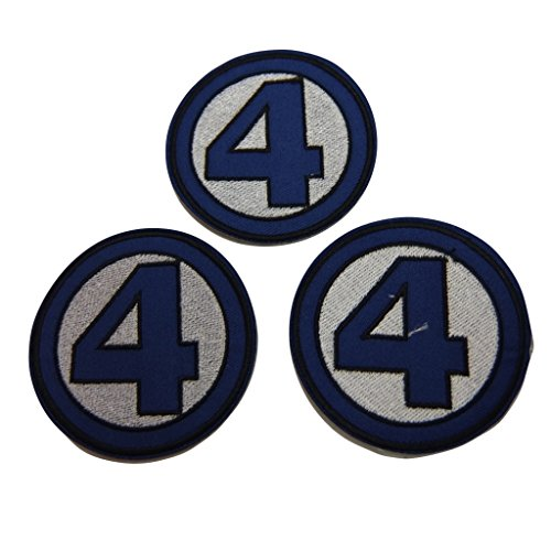 Marvel Comics Fantastic Four Series Logo Embroidered Patch Decorative Applique Set of 3 - 4 Fantastics Costumes