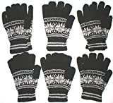 Wholesale Lot Winter 48 Pairs Gloves Fits Women + Older Kids Charity Gift Give a Way