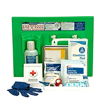 PhysiciansCare by First Aid Only 25 Person/160 Piece First Aid Kit and 16 oz Eye Wash Station, 24-500 by First Aid Only