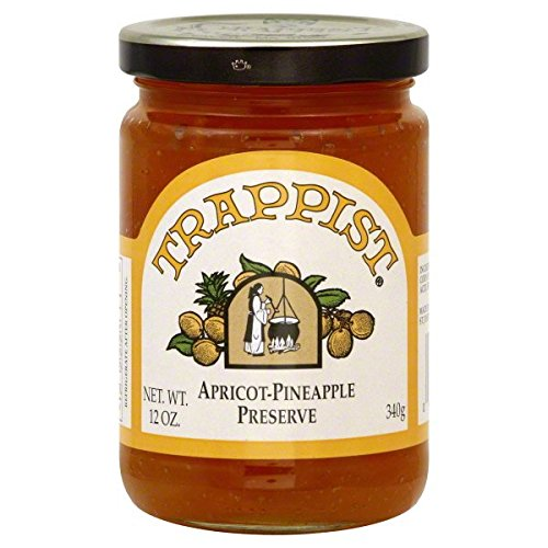 Trappist Apricot Pinapple Preserves - All Natural 12 oz.