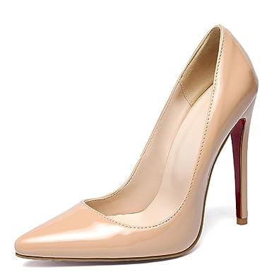 Tiyuxuan Stiletto High HeelsDamenschuhe PumpsLack PumpsHochzeitsschuhe Damen Rot 22.5cm